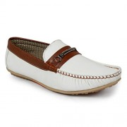 Shoe Island Designer White Loafers