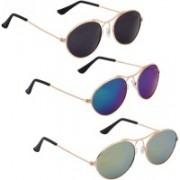 Phenomenal Oval Sunglasses(Black, Blue, Green)