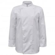 vidaXL Tunici pentru bucătari mânecă lungă, mărime XL, alb, 2 buc.