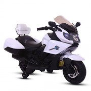 BAYBEE Satune Trike Motorcycle 6V AH Battery Operator MP3 Player with 30 Kg Weight Sports Bike (White)