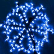 Instalatii Craciun Furtun Led Fulg de Nea 70x70cm Flash Albastru 9035
