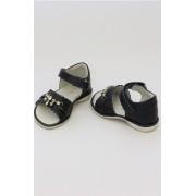 Sandale fete negre cu aplicatii pietre