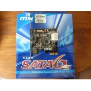 MSI Star-SATA6 2-Port SATA III (6.0Gb/s) PCI-Express 2.0 x1 Controller Card