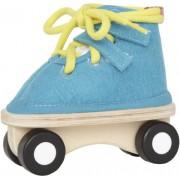 Hape-Wooden Lacing Skate, Blue