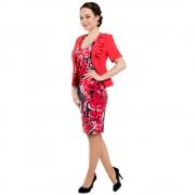 Costum cu rochie Viada - rosu