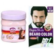 Pink Root Hair Garlic Mask With Bigen Men's Beard Color B101 Natural Black