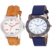 KDS Brand Smart Look Leather Watch 2 - 8 for Men combo watches Watch - For Men
