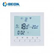 Termostat WiFi pentru centrala termica pe gaz si incalzire in pardoseala BeOk BOT-313WiFi, alb