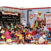 Bits and Pieces - 300 Large Piece Jigsaw Puzzle for Adults - Valentine's Day - 300 pc Classroom Valentines Jigsaw by Artist Tuula Burger