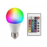 LED RGB Bec cu intensitate variabila E27/6W/230V