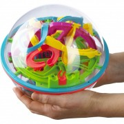 Jucarie interactiva Addictaball Labirint 1 Brainstorm Toys, 19 cm, Multicolor
