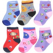 Neska Moda Kids 6 Pair Multicolor Cotton Ankle Length Socks 12 To 18 Months SK580