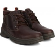 Clarks Ryerson Ridge Brown WLined Lea Boots For Men(Brown)