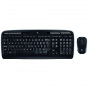 Logitech Combo Mk330 Tastiera Wireless Layout Italiano Colore Nero