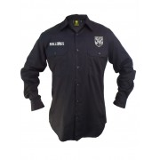 NRL Bulldogs L/S Work Shirt - Black 3XL