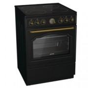 Готварска печка Gorenje EC62CLB, клас А, 65 л. обем на фурната, 4 нагревателни зони, 4 функции, Стъклокерамичен плот, MultiAir, AquaClean почистване, черна
