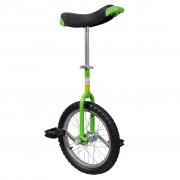 vidaXL Monocycle réglable Vert 16 pouces