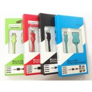 Micro USB OTG Cable USB On The Go Micro USB Colorful Converter Host Adapter for Android Phones and Tablets