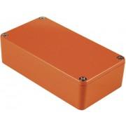 Carcasa de aluminiu IP54, 1590BBOR, portocaliu, 118.5 x 93.5 x 34 mm