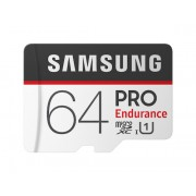 Card memorie Samsung MB-MJ64GA EU , Micro-SDXC, PRO Endurance, 64GB, rata transfer r w 100 30 MB s, Class 10, UHS-I, (Adaptor SD inclus), Proiectat pentru camere de supraveghere securitate (dash