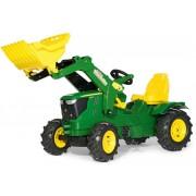 Rolly Toys John Deere 6210R Tramptraktor med frontlastare