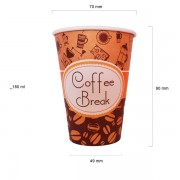 Coffee Break pahare automate carton 180 ml set 50 buc