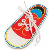 AST Works Wooden Lacing Shoe Learn to How to Tie Laces Educational Motor Skills Children