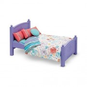 American Girl Doll Floral Bed And Bedding!