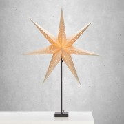 Standing star Solvalla - height 100 cm gold