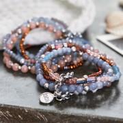 LOBERON Armband Dea / roze/blauw/bruin
