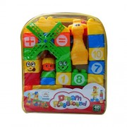 Learning Blocks For Kids With Cartoon Figures, Bag Packing, Best Gift Toy, Multicolor (Set of 40 Pcs) - Gifts Byte