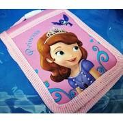 CJB Sofia CJB Sofia the First Princess Badge ID Card Park Pass Holder with Neck Strap Purple