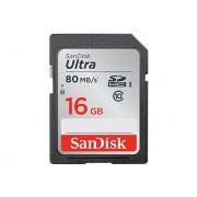 SanDisk Ultra 16 GB SDHC Clase 10 UHS-I Tarjeta De Memoria De Hasta 80 MB/s (SDSDUNC-016G-GN6A)