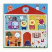 Puzzle Djeco Swapy cu piese interschimbabile