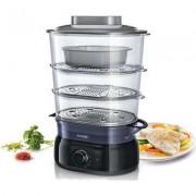 Philips Уред за готвене на пара Daily Collection 9 L, 900 W, инфузер за подправки, съд за супа/ориз, Black