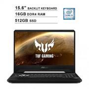 Asus 2020 TUF 15.6 Inch FHD 1080P Gaming Laptop (9th Gen Intel 4-Core i5-9300H up to 4.1GHz, NVIDIA GTX 1650 4GB, 16GB DDR4 RAM, 512GB SSD, Backlit KB, WiFi, Bluetooth, HDMI, Win10)