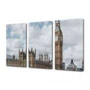 Tablou Canvas Premium Peisaj Multicolor Londra pe timp de zi Decoratiuni Moderne pentru Casa 3 x 70 x 100 cm
