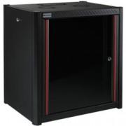 """19"""" комуникационен шкаф MIRSAN MR.WTN09U66.01, 600 x 600 x 512 мм, D=600 мм / 9U, черен, за стена"""