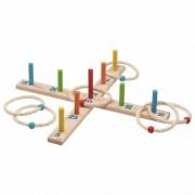 Goki jeux en bois Goki Jeu de lancer d'anneaux avec 6 anneaux en sisal - Jouet en bois