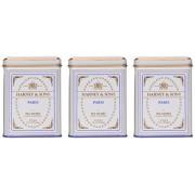 Harney & Sons Paris Colección de bolsitas de té negro, todo natural lata clásica de 20 bolsas, 1.4 onzas paquete de 3