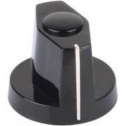 Buton indicator Mentor, negru, Ø ax 6 mm, tip 353.61