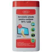 Servetele umede pentru curatare ecrane TFT/LCD Daco