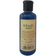 Khadi herbal Lavender and Ylang Ylang Massage Oil Without Mineral Oil (SLS Paraben Free) - 210ml