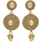 Lucky Jewellery Golden White Stone Partywear Earring