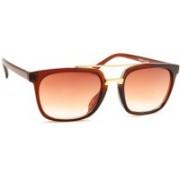 Stacle Rectangular Sunglasses(Brown)