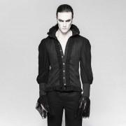 Punk Rave Eternal Brocade Swallow Tail Long Sleeved Shirt Black Y-739