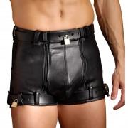 Strict Leather Chastity Shorts- 32 inch waist