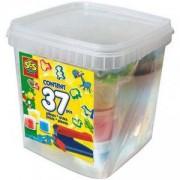 Детски занимателен комплект супер кофа с пластелин, SES, 080798