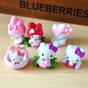 Hello Kitty Action Figure Toys 5cm 6 pc/set