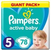 Pampers pelene Active Baby 5 Junior, 78 kom